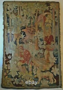 French Handwoven Aubusson Tapestry Late 18th/Early 19th century 80 x 54