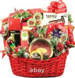 Gift Basket Drop Shipping ChPa Christmas Party, Deluxe Holiday Gift Basket&#