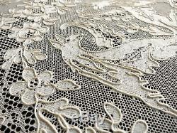 Griffins in Antique French Alencon Lace, Placemats for 12