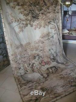 Huge Antique French Chateau Tapestry 9ft. X 4ft. 9