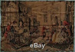 LARGE Antique French Tapestry Interiors