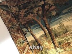 Large Old French Country House Tapestry Wall Hanging
