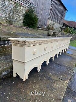 Large Wooden Carved Pelmet/Curtain Box 275 x 43.5 x 22cms