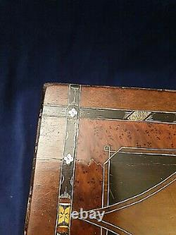 Lovely Victorian Mother of Pearl & Marquetry Sewing Box / Jewellery Box