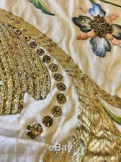 Museum Exhibited Antique 18th C Austrian Gold Embroidered Silk Gremial Veil