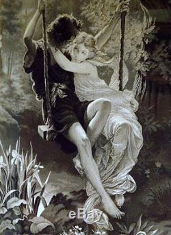 Pierre Auguste Cot 1837-1883, Neyret Freres Silk Tapestry, Spring, Le Printemps
