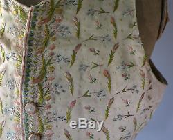 Rare Antique 17th/18th Century Gentleman's Embroidered Waistcoat Superb Quality