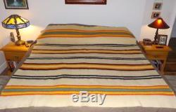 Rare Orr Health Blanket Native Indian Trade Striped 1920's Bold Colors Exc