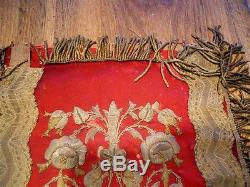 Second Religious banner 19th-century French antique gold metallic embroidery