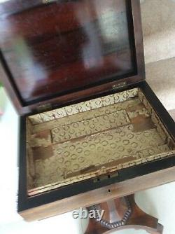 Sewing Box, Old, Antique, Victorian Solid Wood Old, Bargain