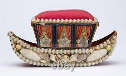 Shellwork Sewing Box A Present From Gt Yarmouth 19th C