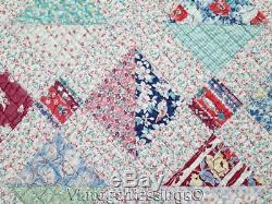 So Very Sweet All Feedsacks Vintage 30s QUILT Expertly Hand Quilted 79x64