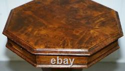 Stunning Burr Walnut Victorian Sewing Or Work Box Great As Side Lamp End Table