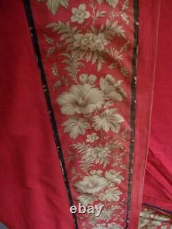 Stunning French Chateau Red Portiére Curtain C 1888 c1900