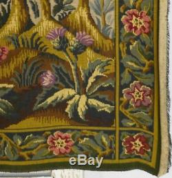 Superb Vintage French'Aubusson' Tapestry Wall Hanging, Medieval Country Scene