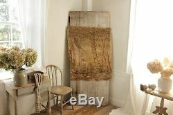 Tapestry Antique French needlework or needlepoint 19th century textile fabric