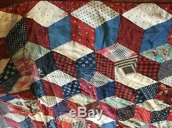 VINTAGE QUILT done in the block pattern. And it s wonderful