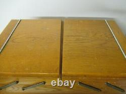 Vintage Cantilever Wooden Sewing/Craft Box with Drawer, on castors