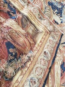 Vintage Genuine Wall Hanging 82 x 65 French wool Tapestry Angels, roses