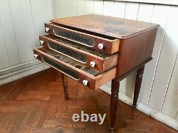 Vintage J & P Coats Shop Counter Display Cabinet Sewing Table Haberdashery