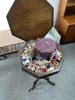 Vintage Sewing Box With Chess Design