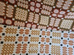 Vintage Welsh Wool Blanket/Quilt Double sided Tapestry
