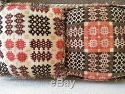 Vintage Welsh Wool Tapestry Blanket Set Matching Cushions & Placemats, Fabulous
