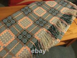 Vintage Welsh Wool blanket, beautiful condition. Double bed size