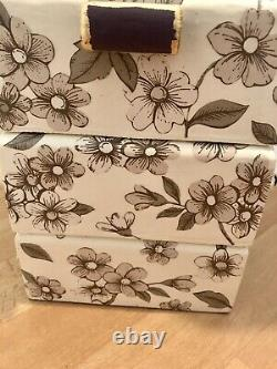 Vintage cantilever sewing box Upcycled OOAK