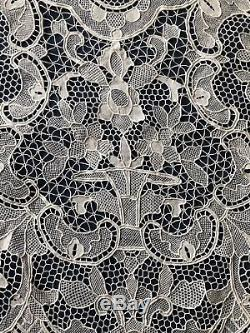 Vintage large handmade needle lace tablecloth BANQUET Napkins Available