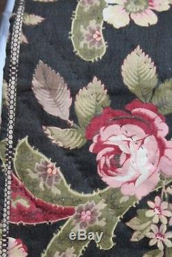 Vtg Antique Pennsylvania Chintz Quilt 19th Century Exc Fabrics Museum Quality